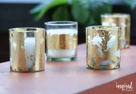 Diy Candles Diy Gold Leafed Citronella Candles Inspired By Charm