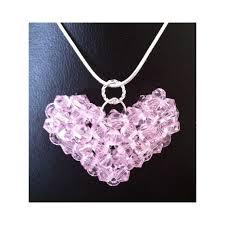 swarovski crystal puffy heart birthstone pendant