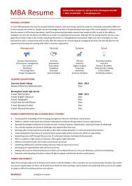 Mba Resume Template Extraordinary Student Entry Level MBA Resume Template