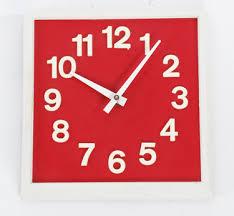 funky modern red wall clock