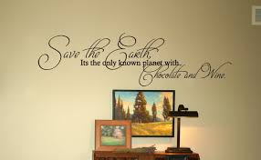 chocolate wine wall decals