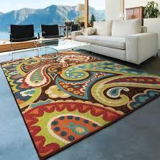 unsurpassed 5x7 indoor outdoor rugs com orian paisley monteray multi area