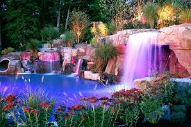 In ground pools with waterfalls Natural Stone Inground Pool With Waterfall Backyard Led Pool Waterfalls Lighting Design Ideas Saddle River New Jersey Inground Inground Pool With Waterfall Home Stratosphere Inground Pool With Waterfall Waterfalls For Pools Inground Pool