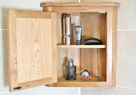 Oak Corner Shelves Wall Mount Extraordinary Bathroom Corner Wall Unit Corner Wall Mounted Bathroom Corner Shelf