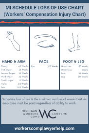 Workers Compensation Injury Chart What Is Schedule Loss Of Use Workers Compensation Injury