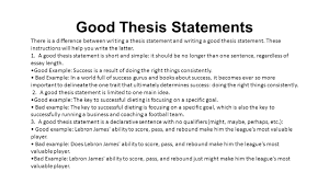 what is a thesis statement ppt video online  good thesis statements