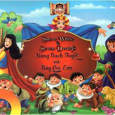 Sách - Truyện Cổ Tích Nàng Bạch Tuyết Và Bảy Chú Lùn - Song Ngữ Anh Việt  giảm chỉ còn 60,000 đ