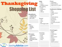 Thanksgiving Grocery List Template Thanksgiving Dinner List Template Major Magdalene Project Org