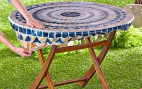 dot table plastic designs has patio round tree covers agreeable six armor dining shown cove polka