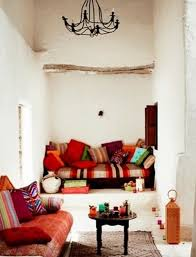 Moroccan lounge furniture Middle Eastern White Living Room With Plaster Walls Colorful And Printed Textiles And Pillows And Traditional Digsdigs 67 Relaxing Moroccan Living Rooms Digsdigs