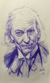 markmanleyuk celebrating the return of doctorwho with a biro portrait of the first doctor