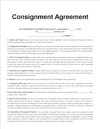 Consignment Agreement Template Word Free Consignment Agreement Template Templates At 9