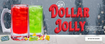applebee s is serving jolly rancher ls for just 1 all december long no coupon is needed each dollar jolly is served in a 10 oz mug