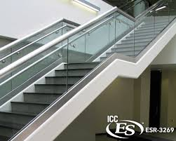 campus pointe staircase with glass railing system