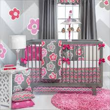 bedroom pink nursery bedding sets baby crib comforter grey cot