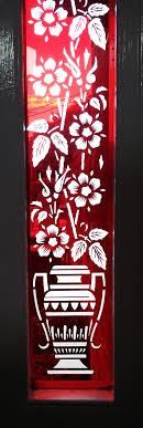 etched coloured glass