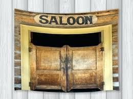old door wall art saloon decor tapestry old vine wood authentic saloon door western building decor