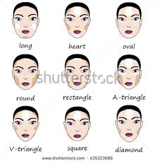 best make up for diffe types of woman s face vector set of diffe forms of