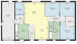 Incroyable Plan Maison 100m2 Plein Pied 10 Plan Maison Plein Plan Dune Maison Plein Pied De 100m2