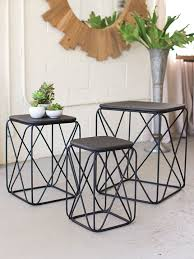 wire furniture. Black Wire Side Table 3 Set Furniture