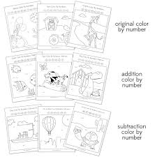 Color By Number Worksheets Addition Color Addition Worksheets ...