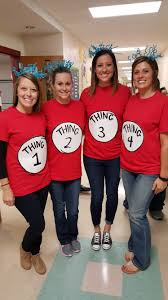 our fourth grade teachers pared in dress as a book character today for red ribbon week