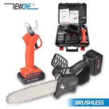 NEWONE 8-Inch <b>21V Cordless</b> Chainsaw 2.0/4.0 AH <b>Battery</b> ...