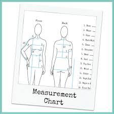 Personal Measurement Chart Online Fashion Design School