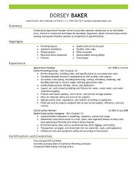 Sample Plumbing Cover Letter Sample Plumber Resume Plumbers Jobs Cover Letter For Job Resumes