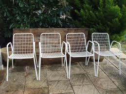 Emu Design Set Of 4 Vintage Chairs Model Rio By Emu 1960s