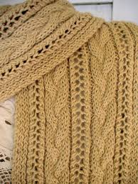 Cable Knit Scarf Pattern Awesome Cable And Lace Hooded Scarf