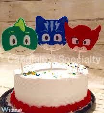 Mask Decorating Supplies PJ Masks Inspired Cake ToppersBirthdayParty SuppliesBirthday 78