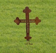 cross garden stake grave marker