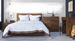modern wooden bed designs. Plain Bed Modern Wood Bedroom Set With White Exposed Brick Wall  Inside Wooden Bed Designs N