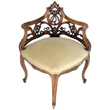 art nouveau furniture. Brilliant Furniture Carved Walnut Art Nouveau French Corner Chair For Sale Throughout Furniture 1stDibs