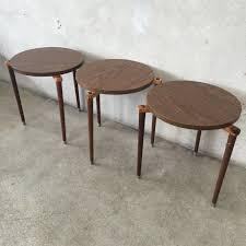 mid century modern stackable tables – urbanamericana