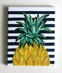 easy painting ideas for canvas tropical beach pineapple acrylic painting art canvas easy painting ideas on