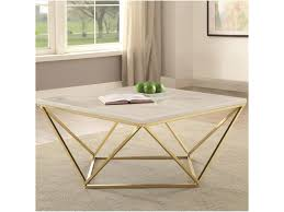 faux marble coffee table. Coaster 700846Contemporary Coffee Table Faux Marble O