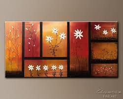 canvas paintings for sale. Sunset Garden - Abstract Art Painting Image By Carmen Guedez Canvas Paintings For Sale A