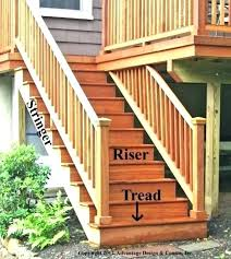 outside wood stairs outdoor deck ageofdesirereview co