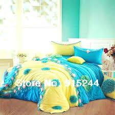 yellow blue bedding navy duvet cover brand mickey mouse set cotton cartoon sheet single