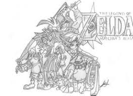 Zelda Majora S Mask Coloring Pages Murderthestout