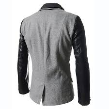 winter coat men long sleeve mens trench coat with leather sleeves winter trench coat plus size 2xl
