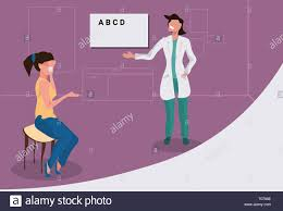 Dr Office Eye Chart Female Ophthalmologist Checking Woman Patient Eyesight