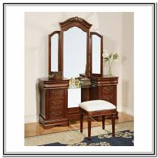cherry finish wood vanity set