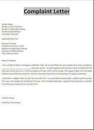 Formal Complaint Letter Template Word Under Fontanacountryinn Com