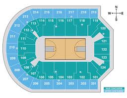 Stanford Basketball Seating Chart Denny Sanford Premier Center Event Seating Charts