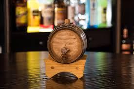 stacked oak barrels maturing red wine. 1 Liter Oak Aging Barrel Front Stacked Barrels Maturing Red Wine