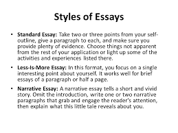 what is the college essay you in words or less the college  styles of essays standard essay take two or three points from your self outline
