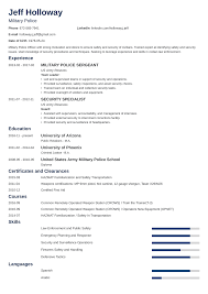 Military To Civilian Resume Examples Template For Veterans